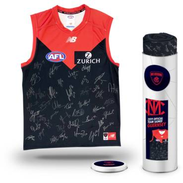 Melbourne Football Club 2019 Team Signed Guernsey