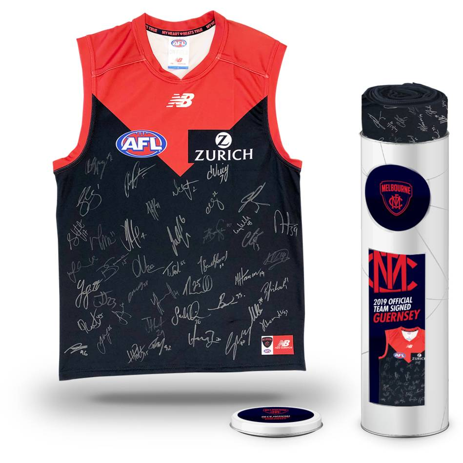 mainMelbourne Football Club 2019 Team Signed Guernsey0