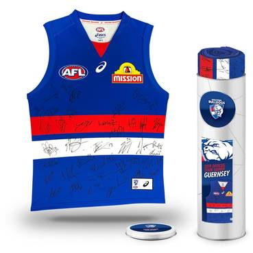 Western Bulldogs 2019 Team Signed Guernsey