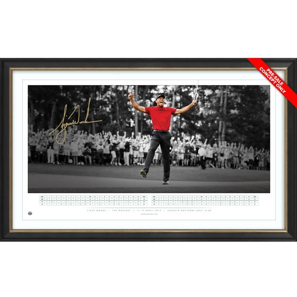 mainTiger Woods 2019 Masters Signed Icon Series Display  *Exclusive Pre-Release Price*0