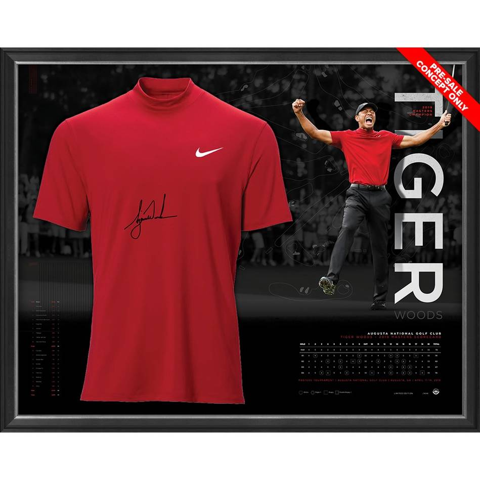 mainTiger Woods 2019 Masters Signed Shirt Display *Exclusive Pre-Release Price*0