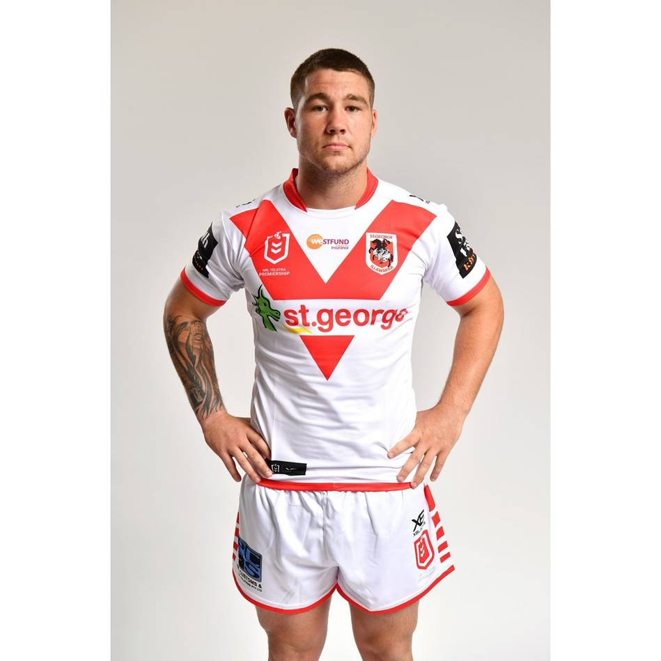 mainZac Lomax - St George Illawarra Dragons 2019 Commemorative Signed Match-Worn Jersey1