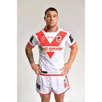 Zac Lomax - St George Illawarra Dragons 2019 Commemorative Signed Match-Worn Jersey1