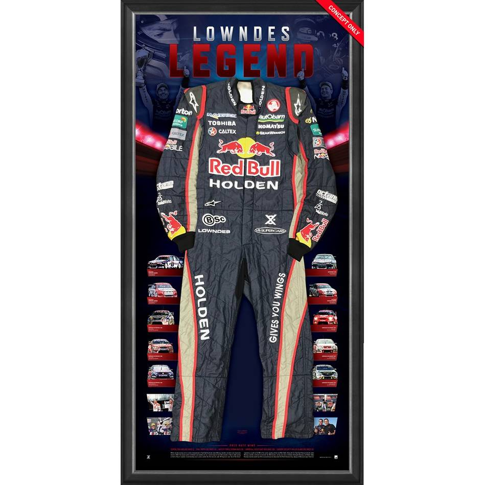 mainCraig Lowndes Signed 2013 V8 Supercars Championship RBRA Race-Worn Suit0