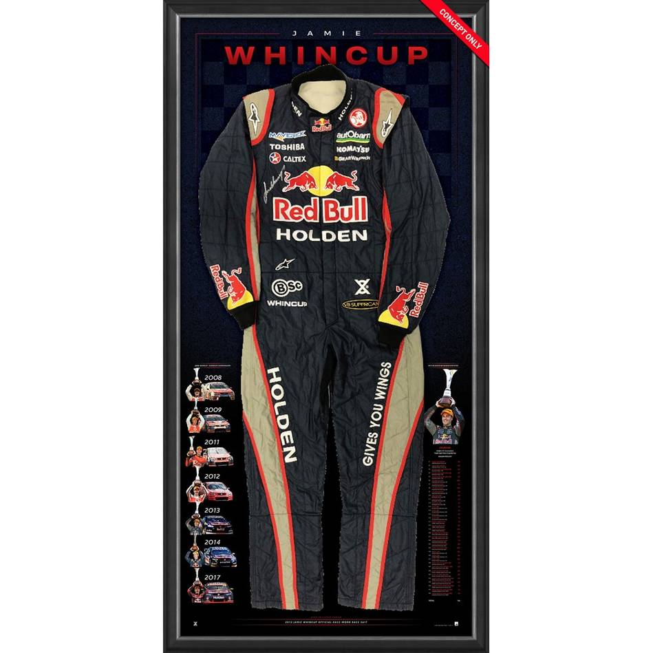 mainJamie Whincup Signed 2013 V8 Supercars Championship RBRA Race-Worn Suit0