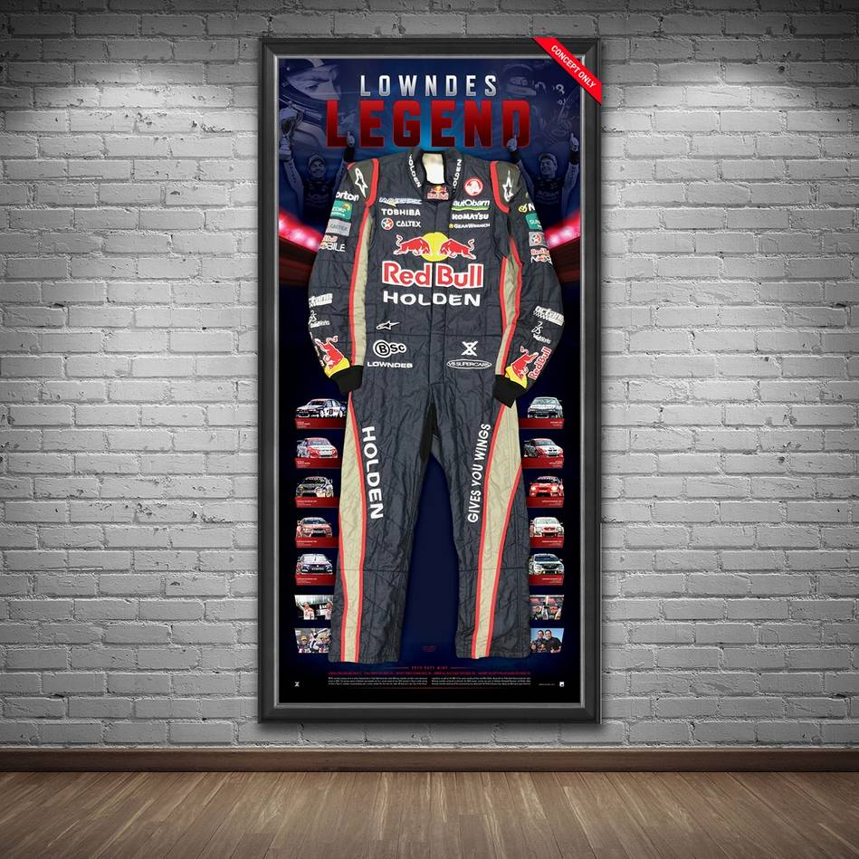 mainCraig Lowndes Signed 2013 V8 Supercars Championship RBRA Race-Worn Suit1