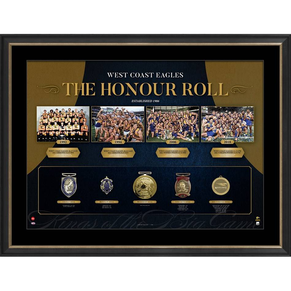 WEST COAST EAGLES 'THE HONOUR ROLL'0