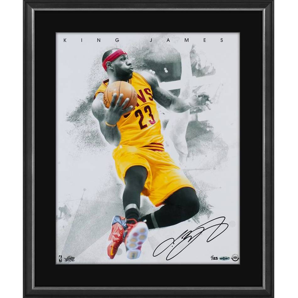mainLEBRON JAMES SIGNED 'BLOW BY'0