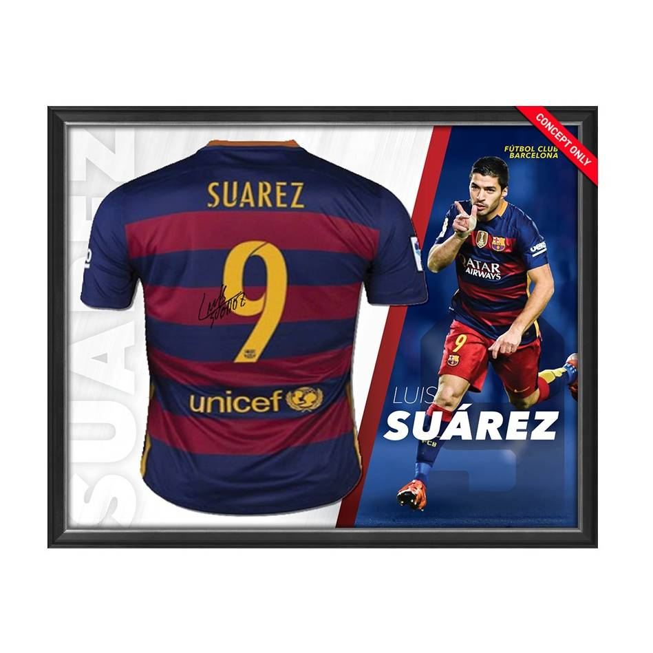 mainLuis Suarez Signed Barcelona Shirt0