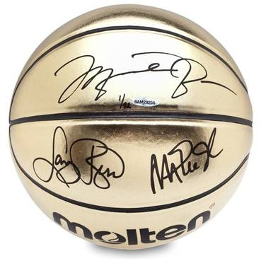 JORDAN/JOHNSON/BIRD SIGNED BASKETBALL