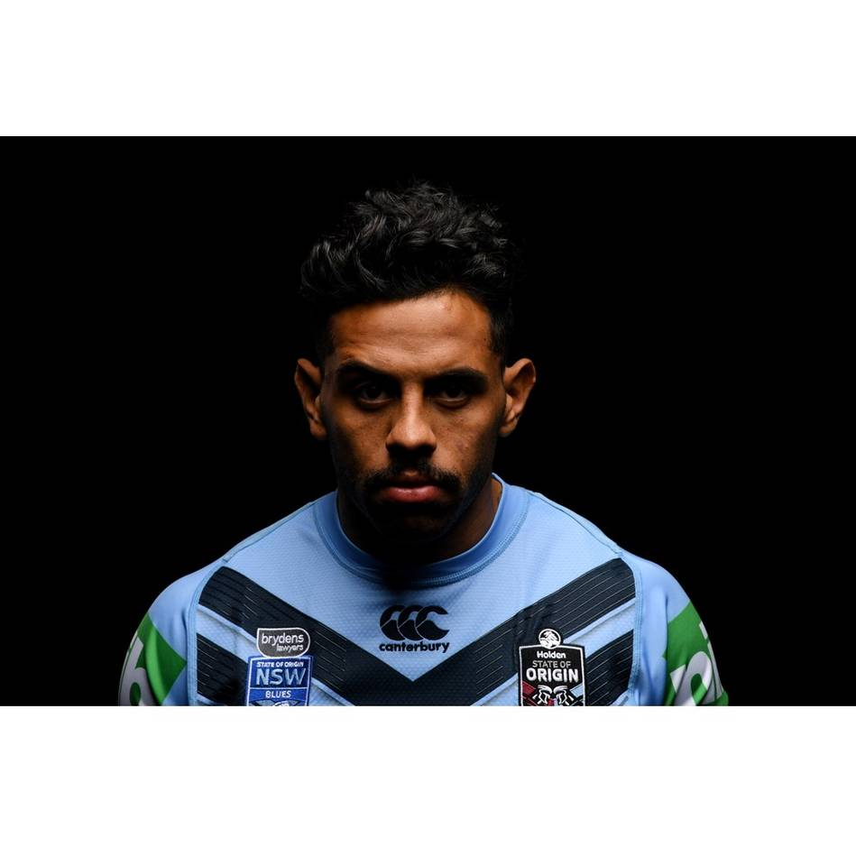 mainJosh Addo-Carr – NSW Blues 2019 Holden State of Origin Game III Signed Match-Worn Jersey1