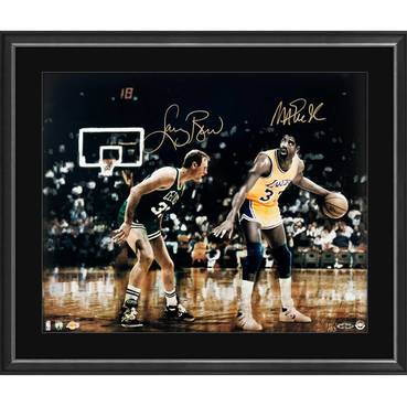 MAGIC JOHNSON/LARRY BIRD SIGNED MATCH-UP