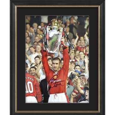 Eric Cantona Signed Manchester United 1995-96 Premier League Winner