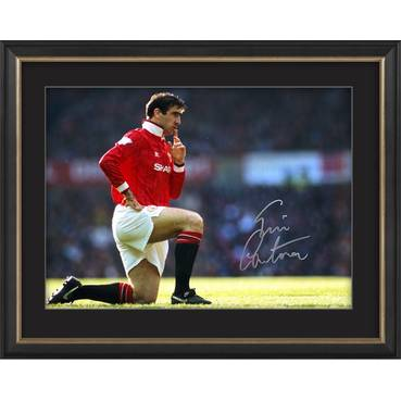 Eric Cantona Signed 'The King of Manchester'