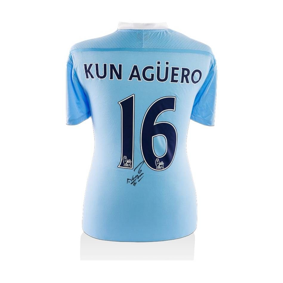 mainSergio Aguero Signed Man City Shirt0