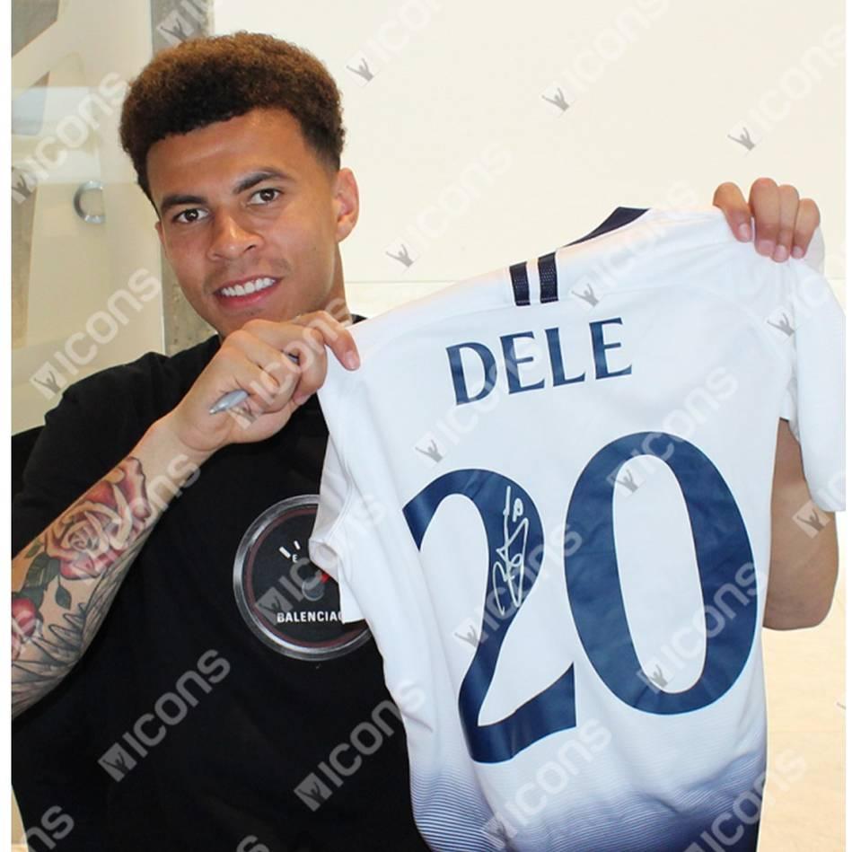 save off 0d602 8d24e Dele Alli Signed Tottenham Hotspur UEFA 2018-19 Home Shirt
