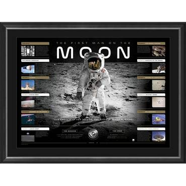 'The First Man on the Moon' Moon Landing Lithograph