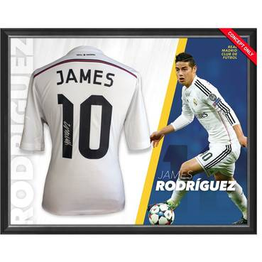 James Rodriguez Signed Real Madrid Shirt
