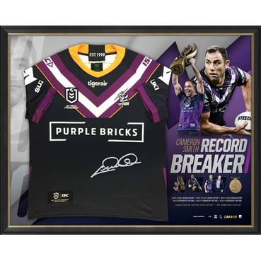 Cameron Smith Signed 'Record Breaker' Jersey Display