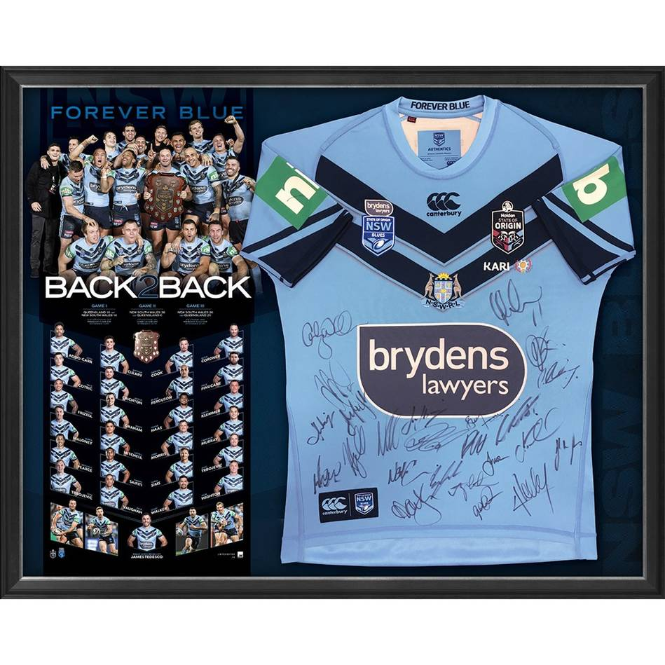 mainNSW Blues 2019 State of Origin Team Signed 'Back 2 Back'0
