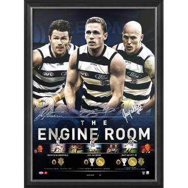 Geelong Cats Signed 'The Engine Room'