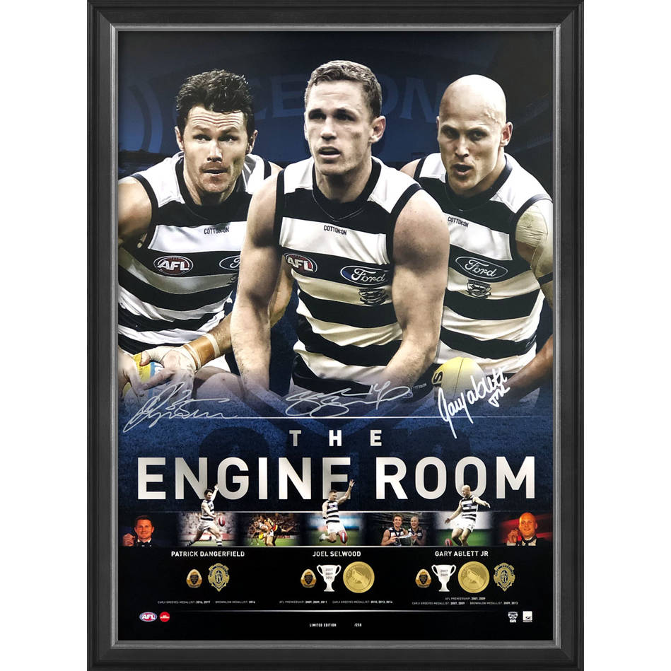mainGeelong Cats Signed 'The Engine Room'0