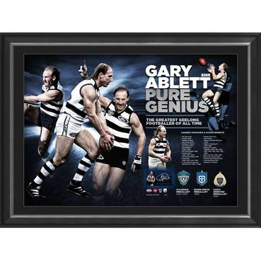 Gary Ablett Jr Signed Career Retrospective Lithograph