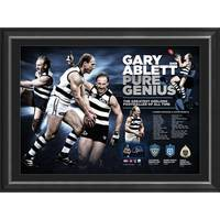Gary Ablett Snr Signed 'Pure Genius'0