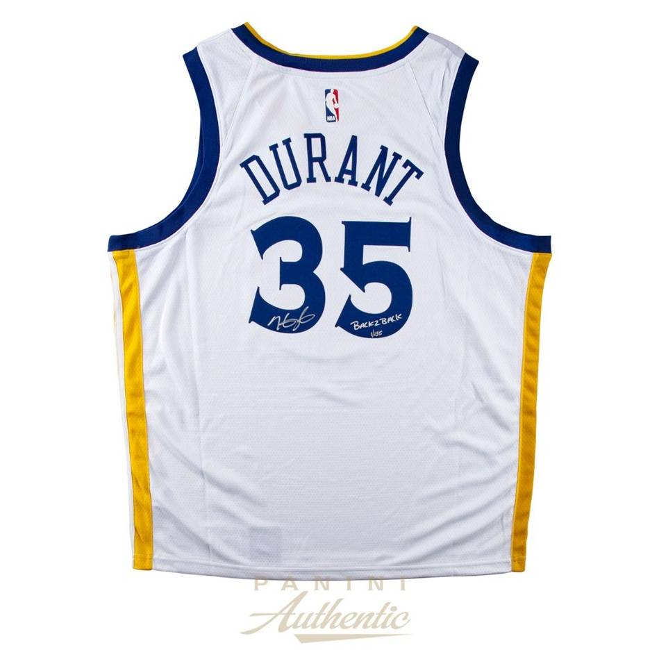 mainKevin Durant Signed & Inscribed Warriors Jersey0