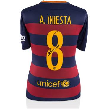 Andres Iniesta Signed Barcelona Shirt