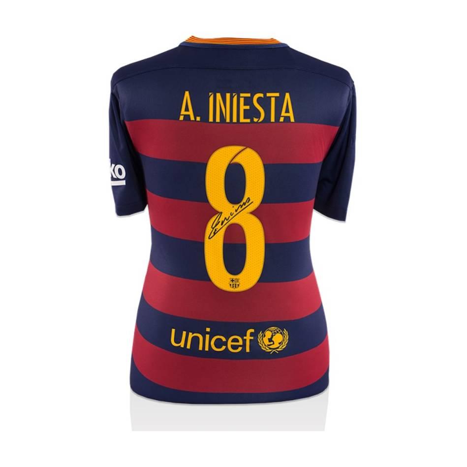 mainAndres Iniesta Signed Barcelona Shirt0
