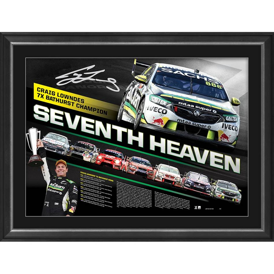 mainCraig Lowndes Signed 'Seventh Heaven'0