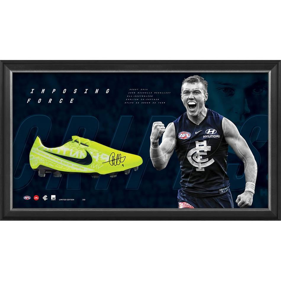 Patrick Cripps Signed 'Imposing Force' Boot Display0