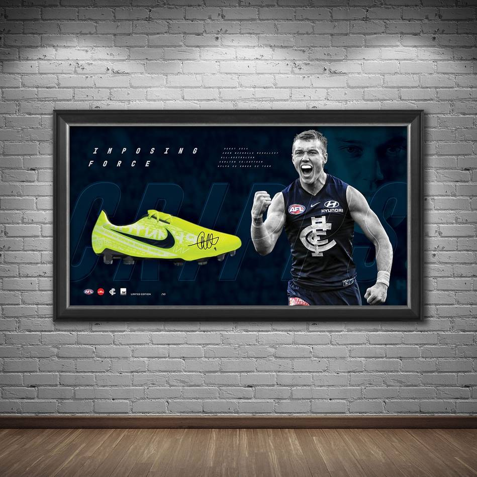 Patrick Cripps Signed 'Imposing Force' Boot Display1