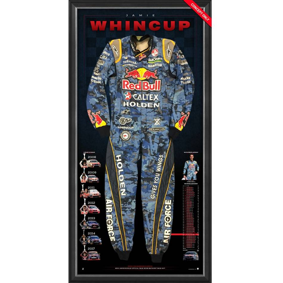 mainJamie Whincup Signed 2014 V8 Supercars Championship RBRA BATHURST Race-Worn Suit0