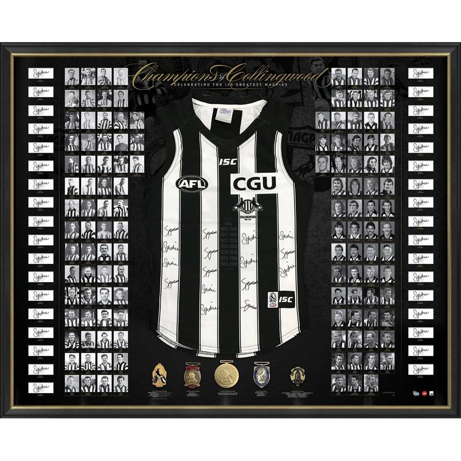COLLINGWOOD 125TH ANNIVERSARY SIGNED 'CHAMPIONS OF COLLINGWOOD'0