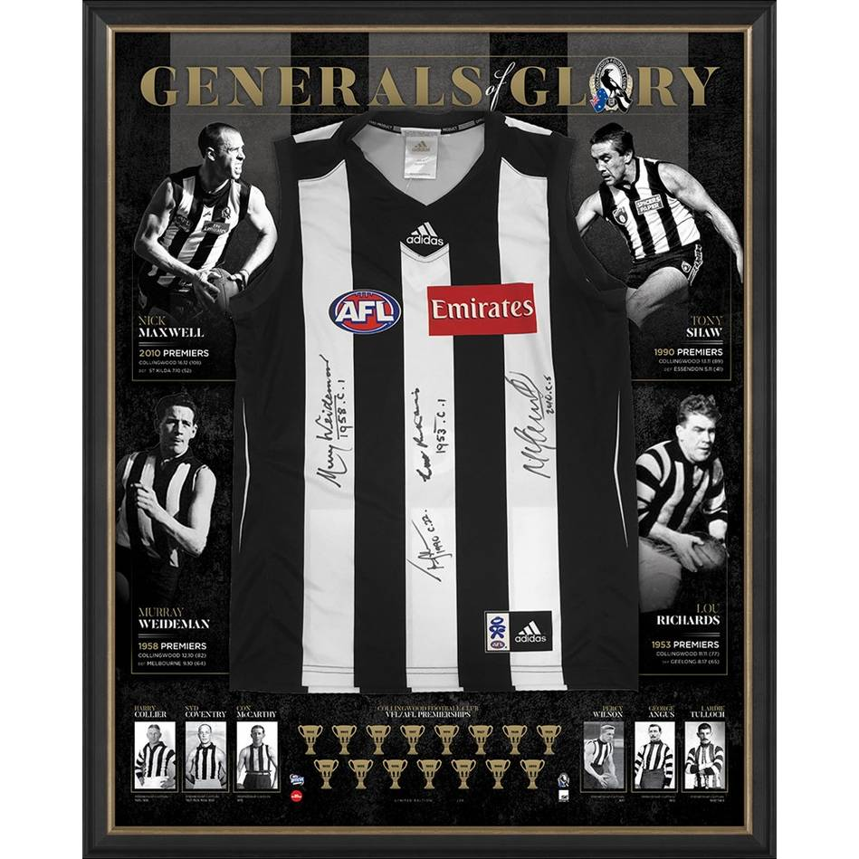 COLLINGWOOD 125th ANNIVERSARY SIGNED 'GENERALS OF GLORY'0