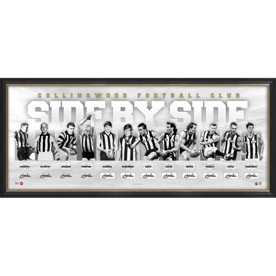 mainCOLLINGWOOD 125th ANNIVERSARY SIGNED 'SIDE BY SIDE'0