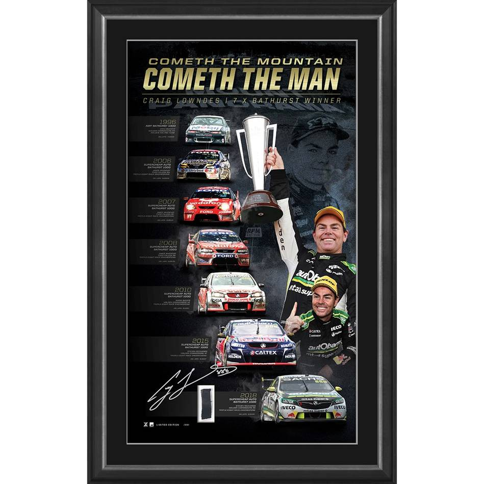 mainCraig Lowndes Signed 'Cometh the Mountain, Cometh the Man' - Deluxe0