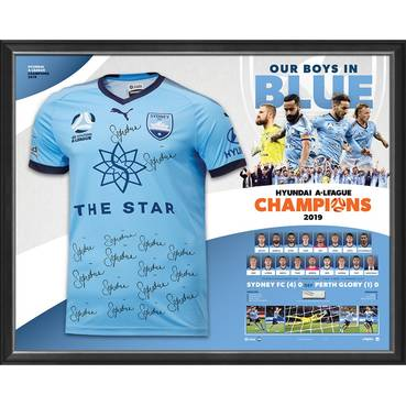 Sydney FC Hyundai A-League 2019 Champions Team Signed Jersey