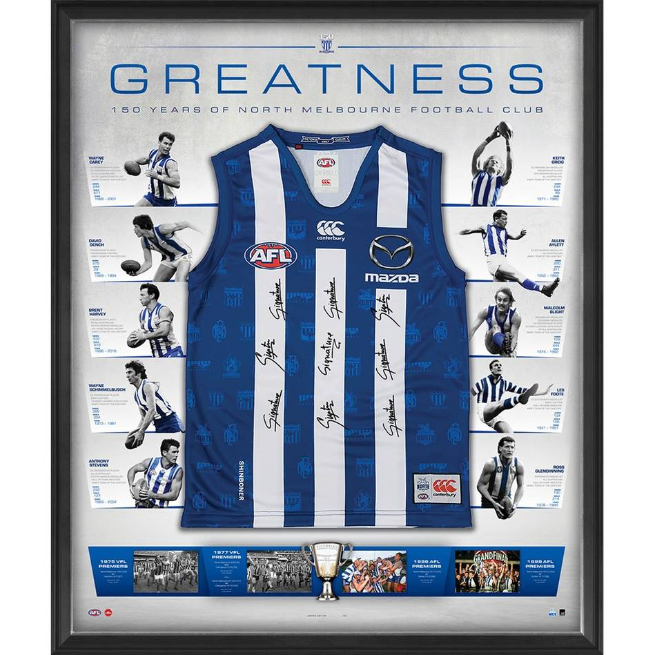 mainNorth Melbourne 150 Year Anniversary Signed 'Greatness'0