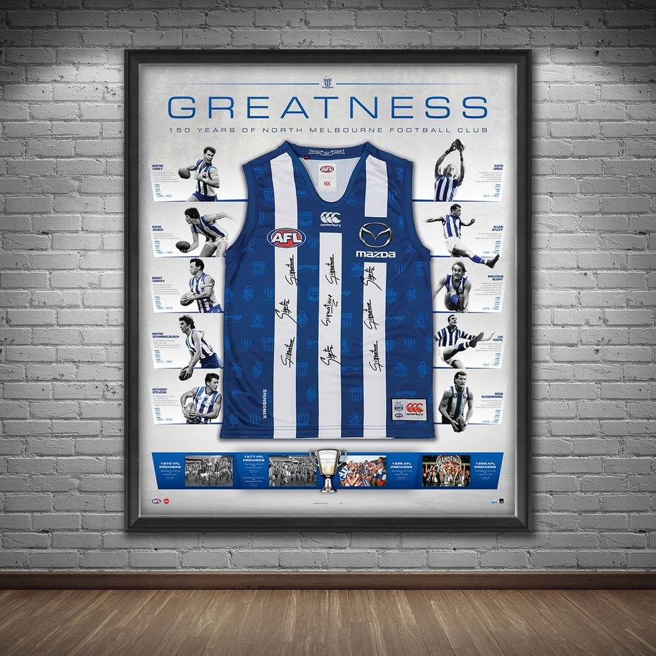mainNorth Melbourne 150 Year Anniversary Signed 'Greatness'1