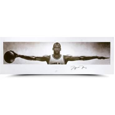 MICHAEL JORDAN SIGNED NIKE WINGS PRINT
