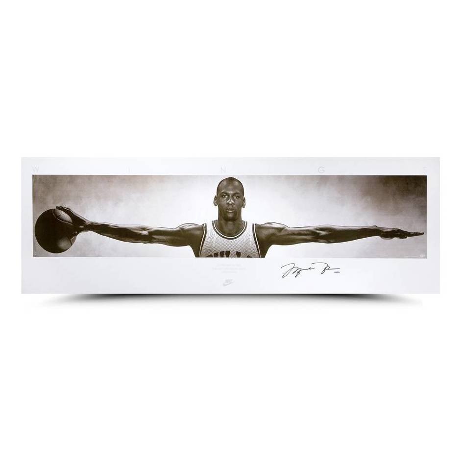 Wings Print | Michael Jordan Chicago Bulls Signed Official Memorabilia
