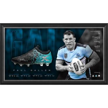 Paul Gallen Signed Boot Display