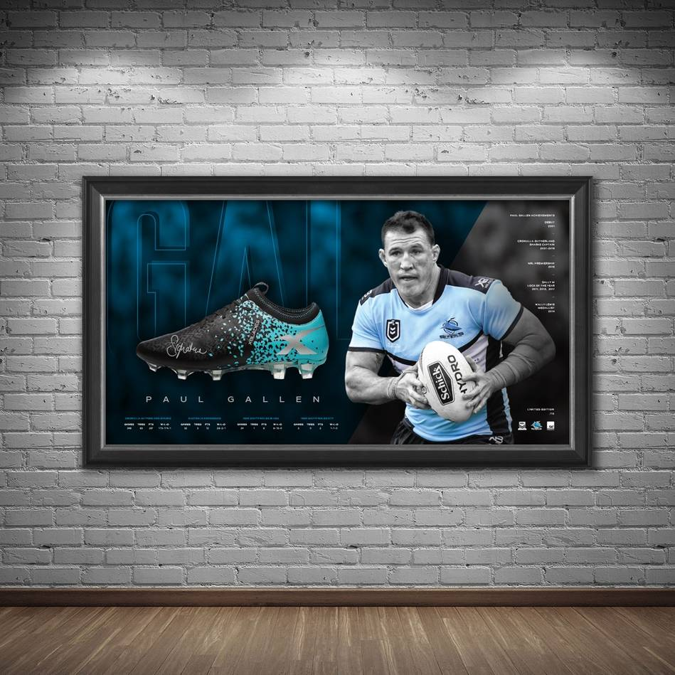 mainPaul Gallen Signed Boot Display1