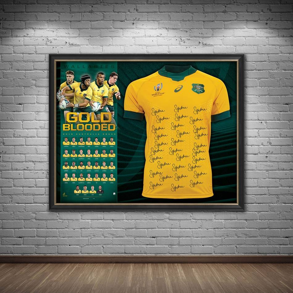 mainQANTAS Wallabies 2019 Squad Signed Jersey1