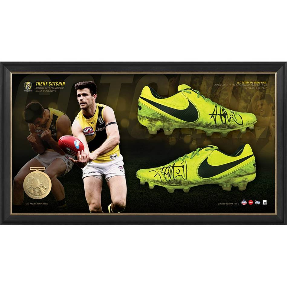 mainTrent Cotchin 2017 Grand Final Signed Match-Worn Boots0