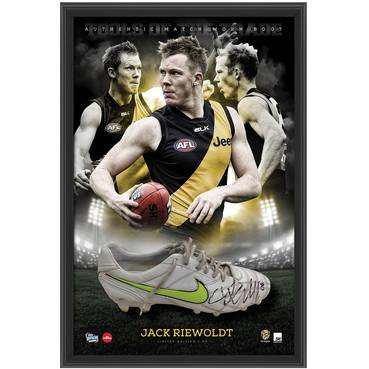 JACK RIEWOLDT SIGNED MATCH-WORN BOOT