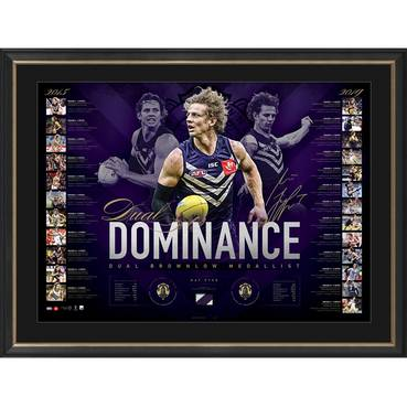 Nat Fyfe Signed 2019 Brownlow Medal Lithograph